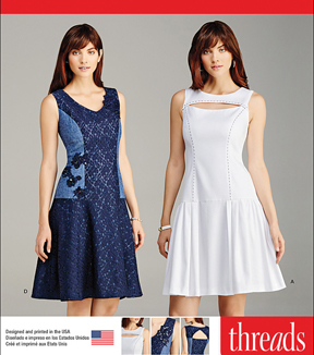 Simplicity Patterns Us1103U5-Simplicity Misses\u0027 Dress With Bodice And Skirt Variations-16-18-20-22-24
