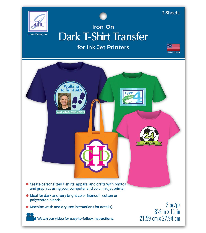 Dark T-Shirt Transfer Paper For Ink Jet Printers 3/Pkg | JOANN