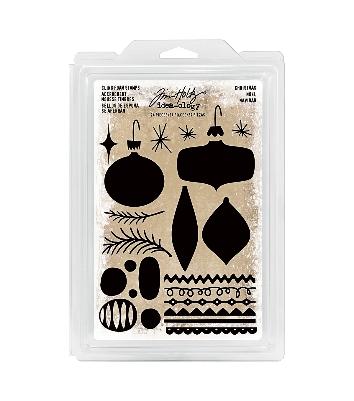 Tim Holtz Idea-ology Cling Foam Stamps-Christmas