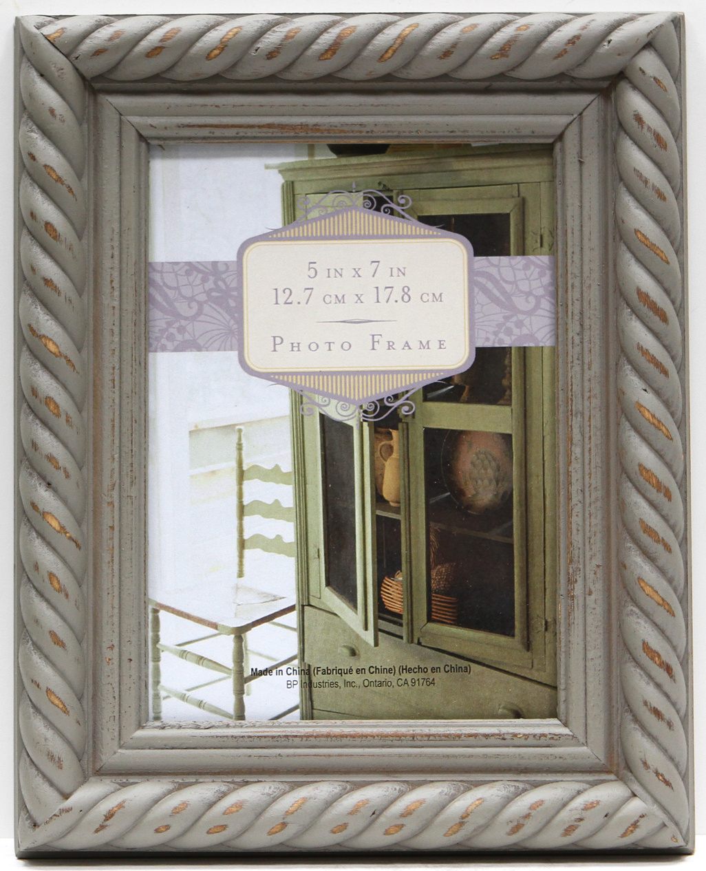 Rope Distressed Frame 5x7-Gray