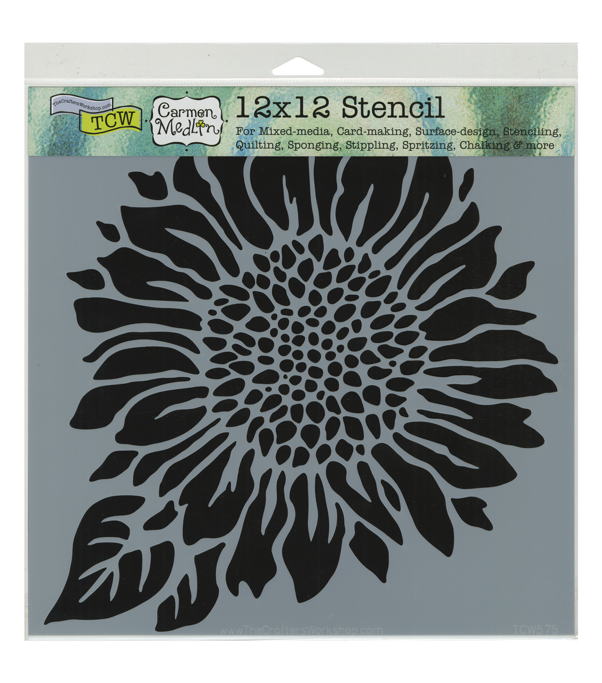 Crafter\u0027s Workshop 12\u0027\u0027x12\u0027\u0027 Template-Joyful Sunflower