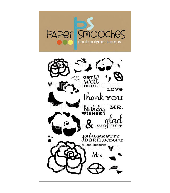 "Paper Smooches 4""X6"" Clear Stamps-Lovely Thoughts"