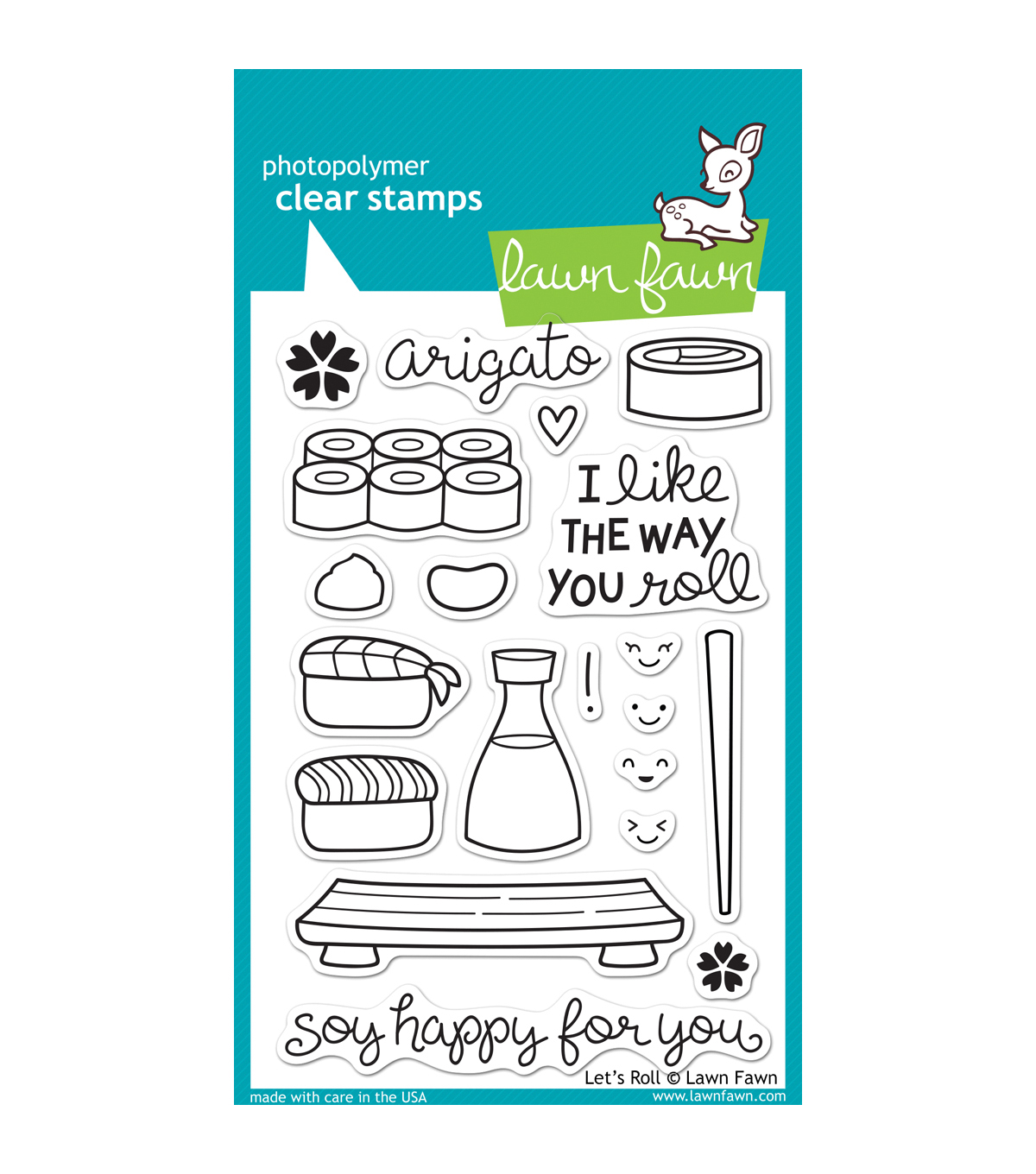 Lawn Fawn Clear Stamps 4\u0022X6\u0022-Let\u0027s Roll