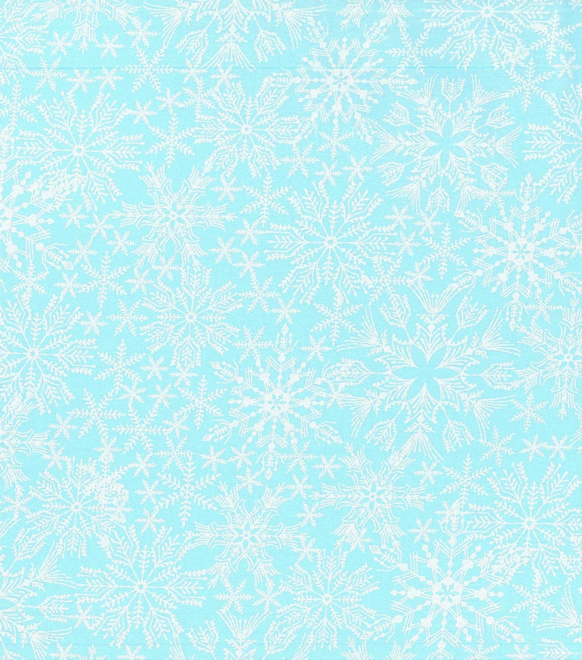 Christmas Cotton Fabric 43\u0022-Pearl Blue Snowflakes