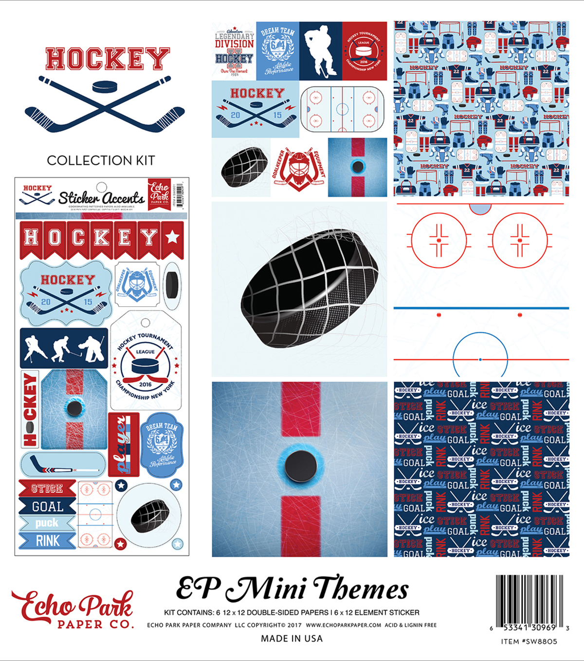 Collection Kit 12\u0022X12\u0022-Hockey