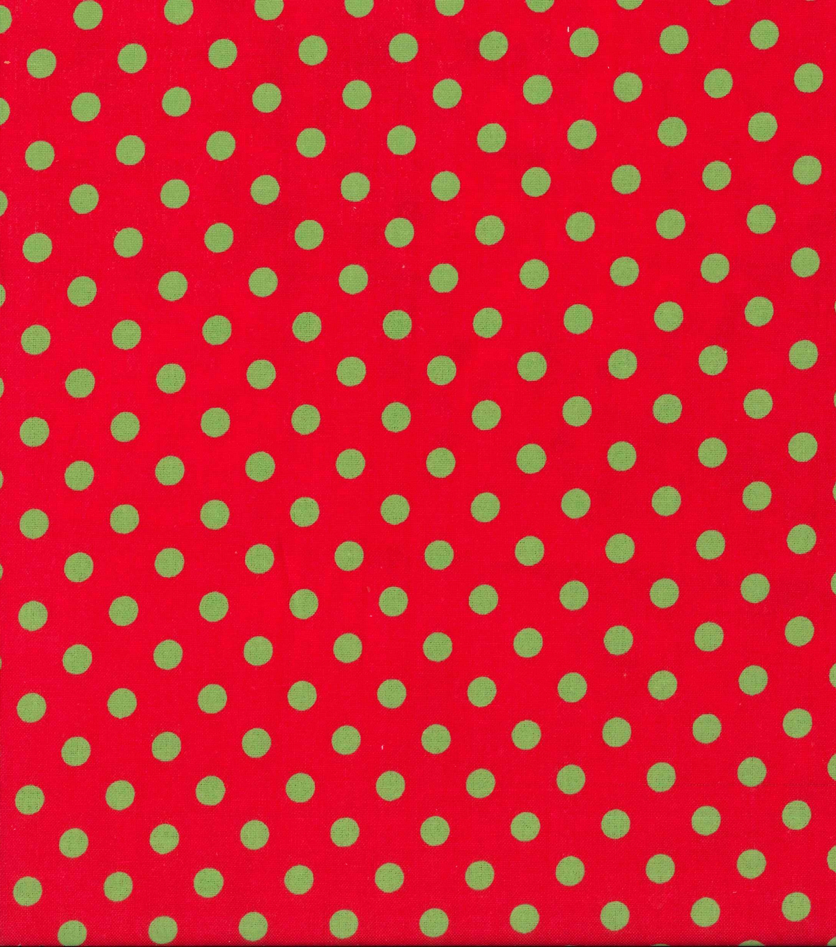 Holiday Showcase™ Christmas Cotton Fabric 43\u0022-Green Dots