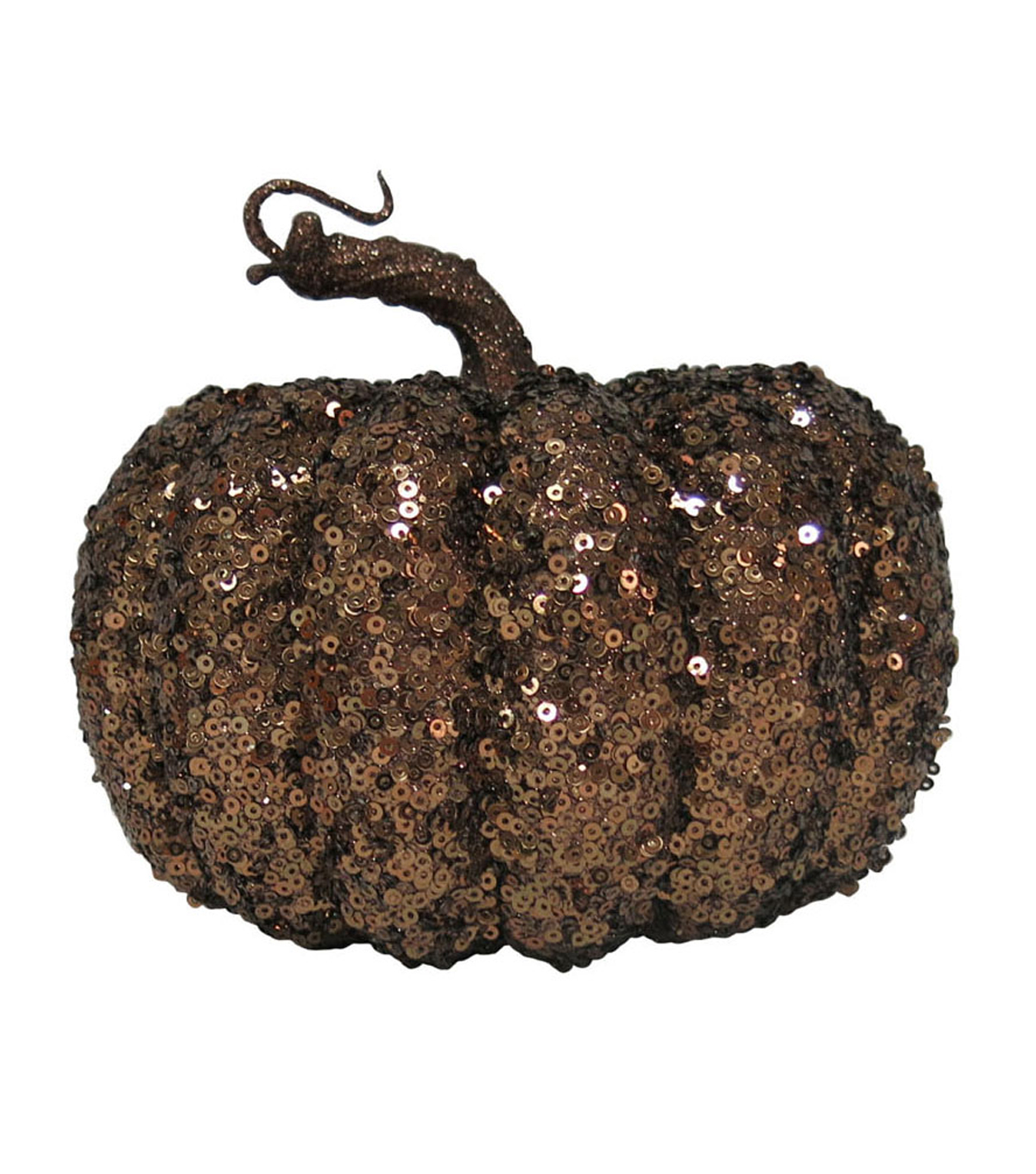 Pumpkin Boutique Small Sequin Pumpkin-Brown