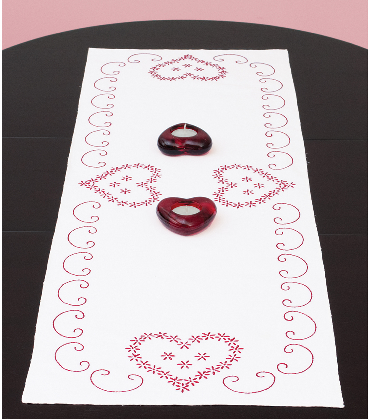 Jack Dempsey Stamped Table Runner/Scarf Valentine\u0027s Day