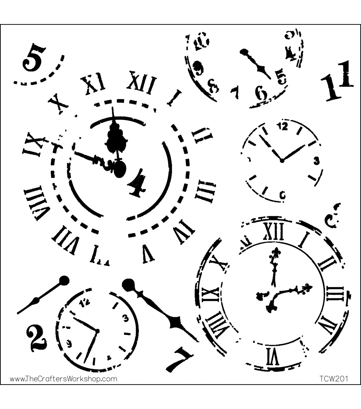 Crafter\u0027s Workshop Templates 12\u0022X12\u0022-Time Travel