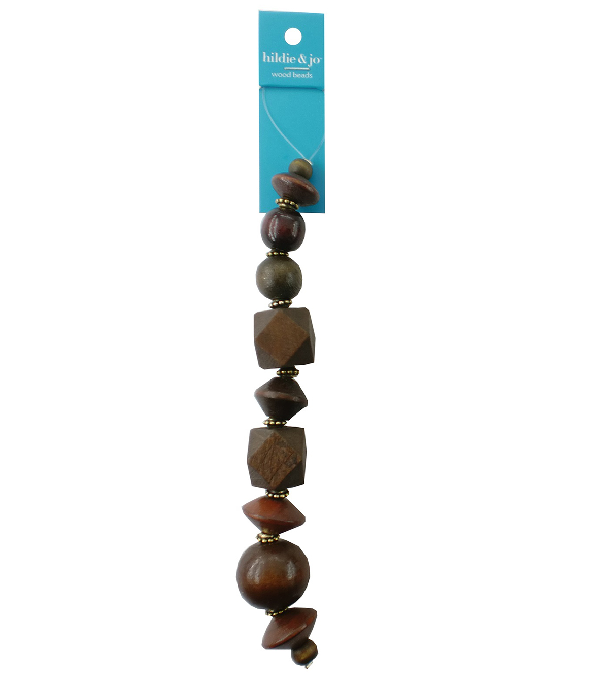 hildie & jo™ 7\u0027\u0027 Wood Beads Strand-Brown