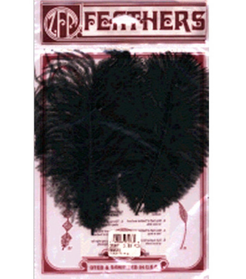 Ostrich Feathers-2PK/Black