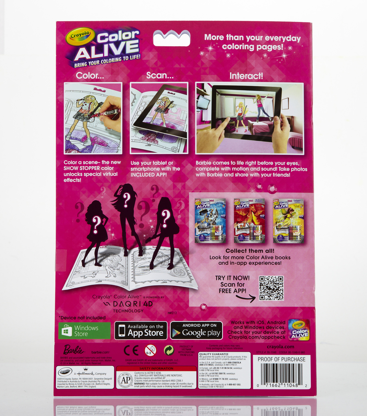 crayola color alive action coloring pages barbie joann