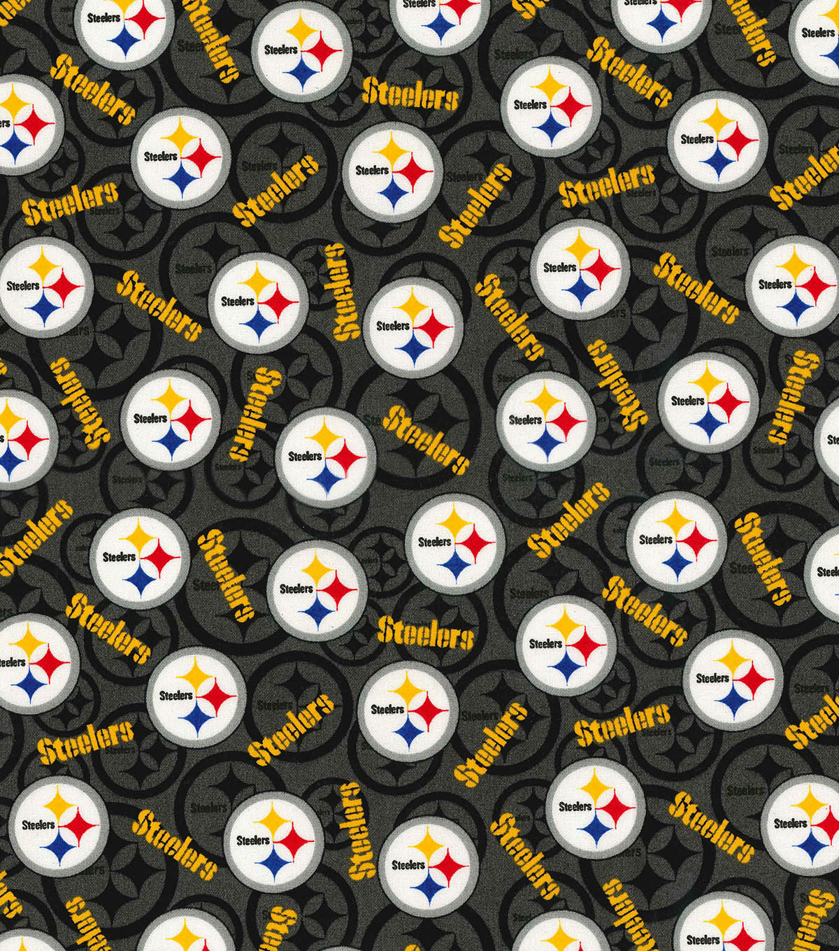 Pittsburgh Steelers Cotton Fabric 58\u0022-Toss