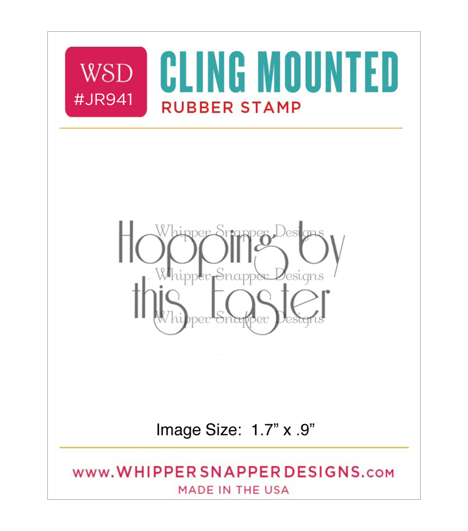 Whipper Snapper Designs Cling Stamp-Hopping By