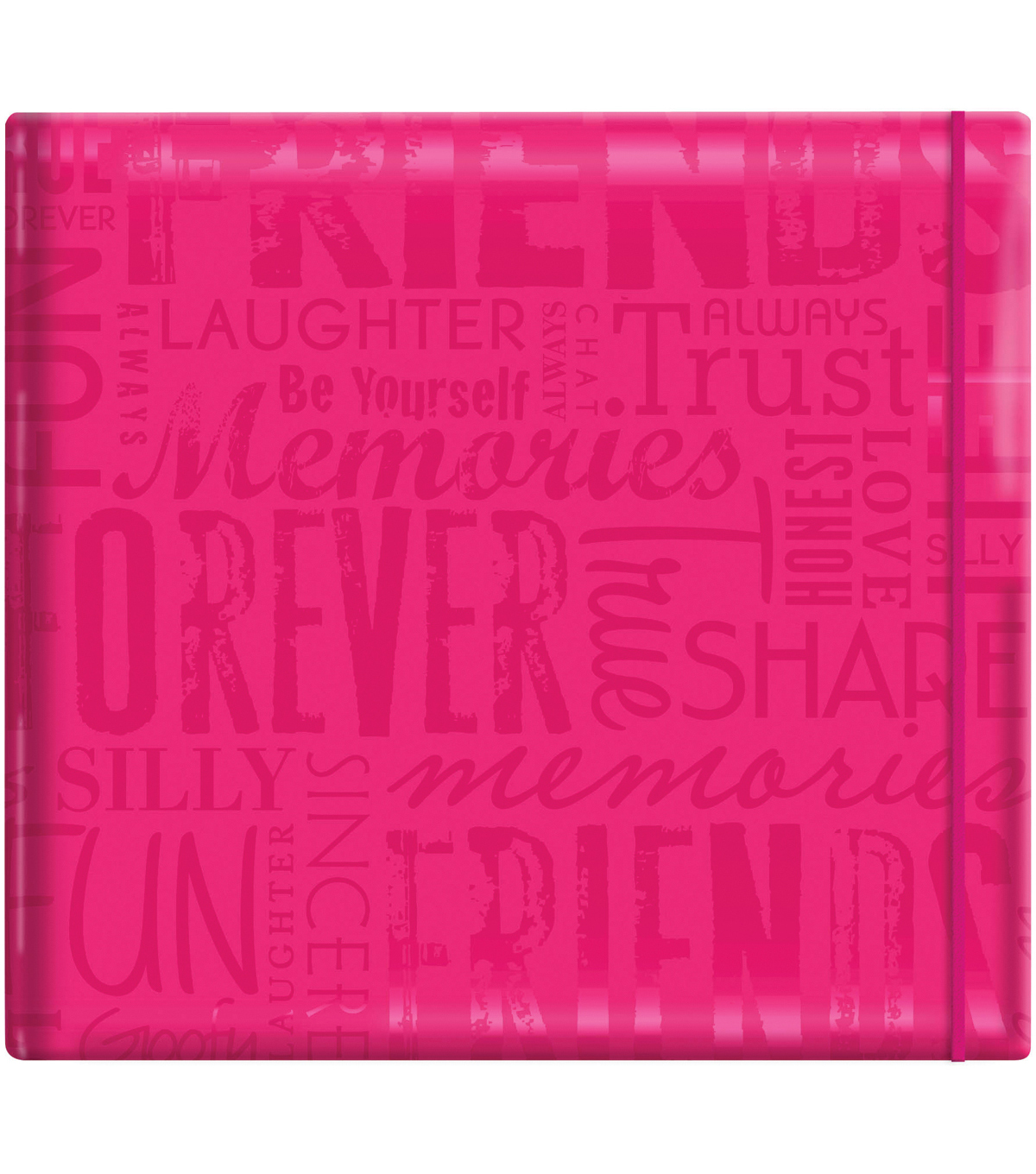 "MBI Gloss Scrapbook 12""X12""-Friends-Pink"