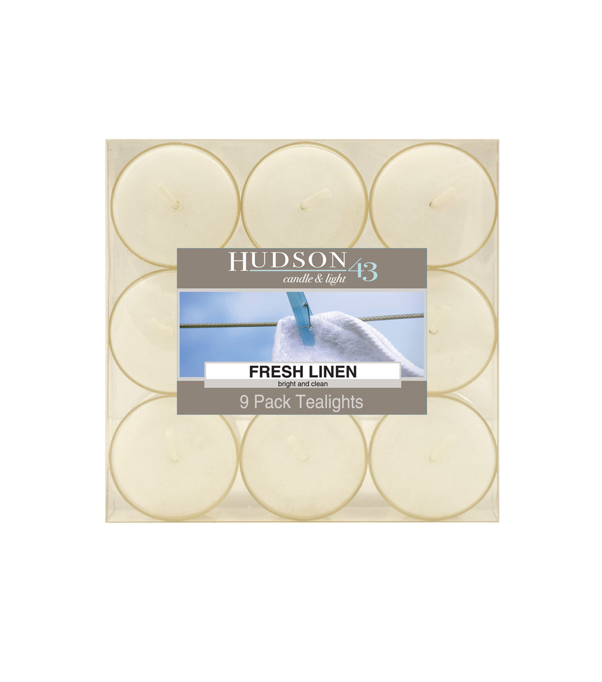 Hudson 43™ Candle & Light Collection 9 Pack Fresh Linen Tealights