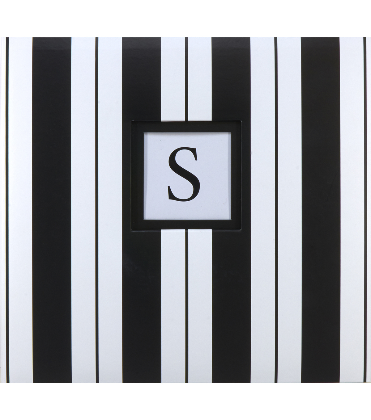 K&Company Black And White Cabana Stripe 12\u0022x12\u0022 Monogram Scrapbook