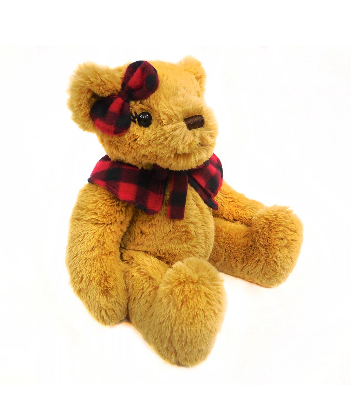 Holiday 11u0027u0027 Sitting Girl Bear With Cape U0026 Ribbon