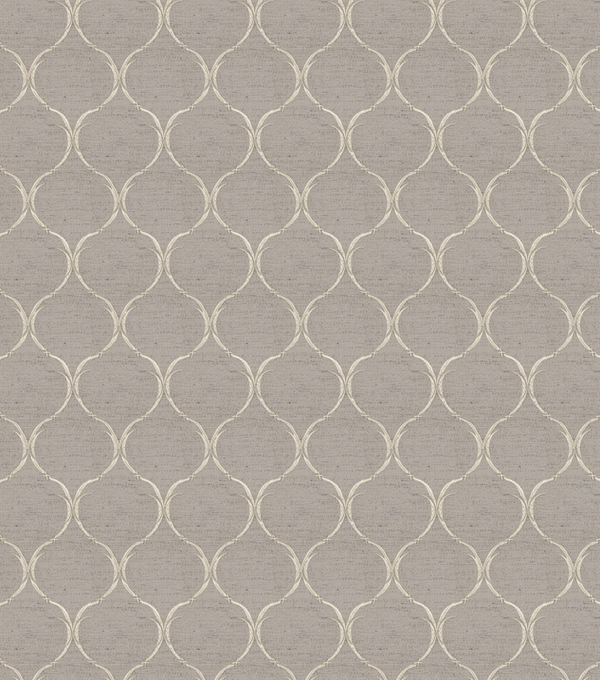 "Eaton Square Print Fabric 54""-Biscuit/Grey"
