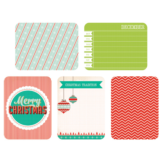 Kaisercraft Captured Moments Double-Sided Cards December 25th 3\u0022X4\u0022