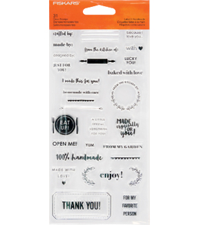 Fiskars® Clear Stamps-Label It Hand Made