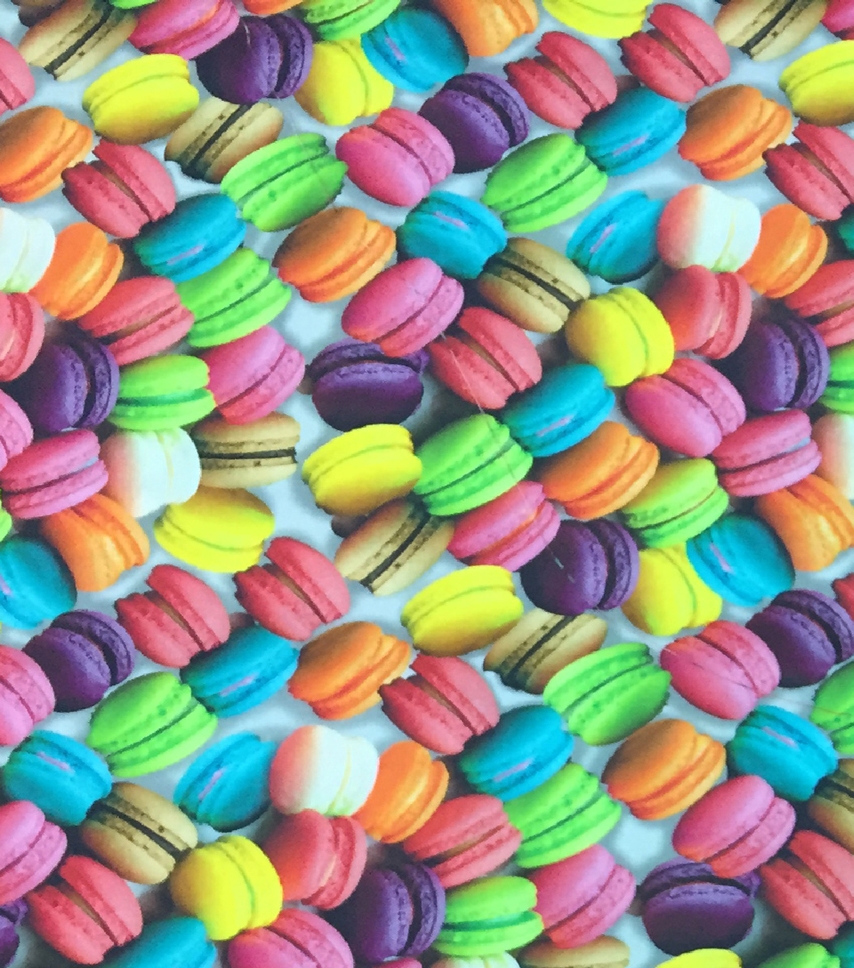 "Novelty Cotton Photo Real Fabric 44""-Macaroons"