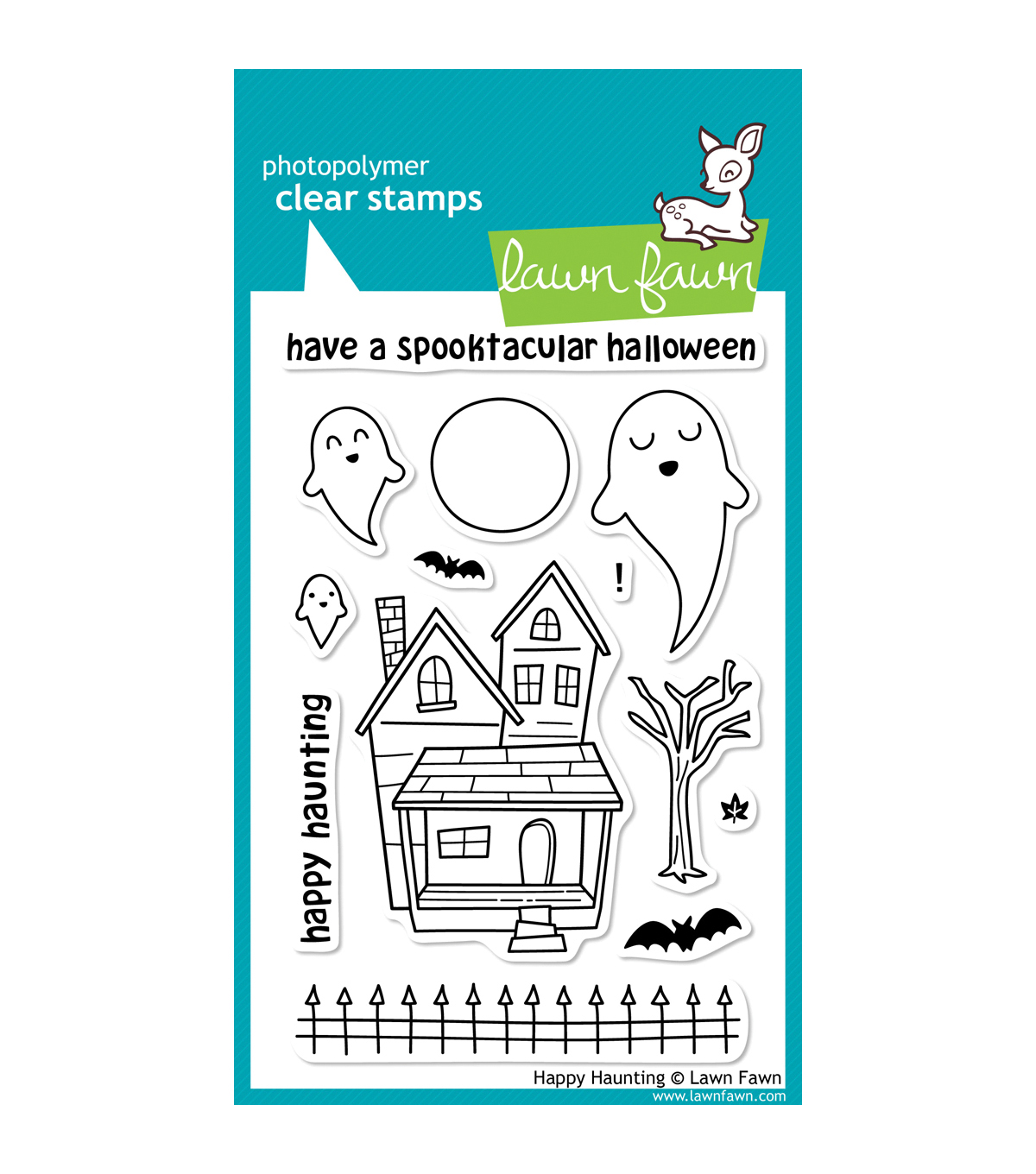 "Lawn Fawn Clear Stamps 4""X6""-Happy Haunting"