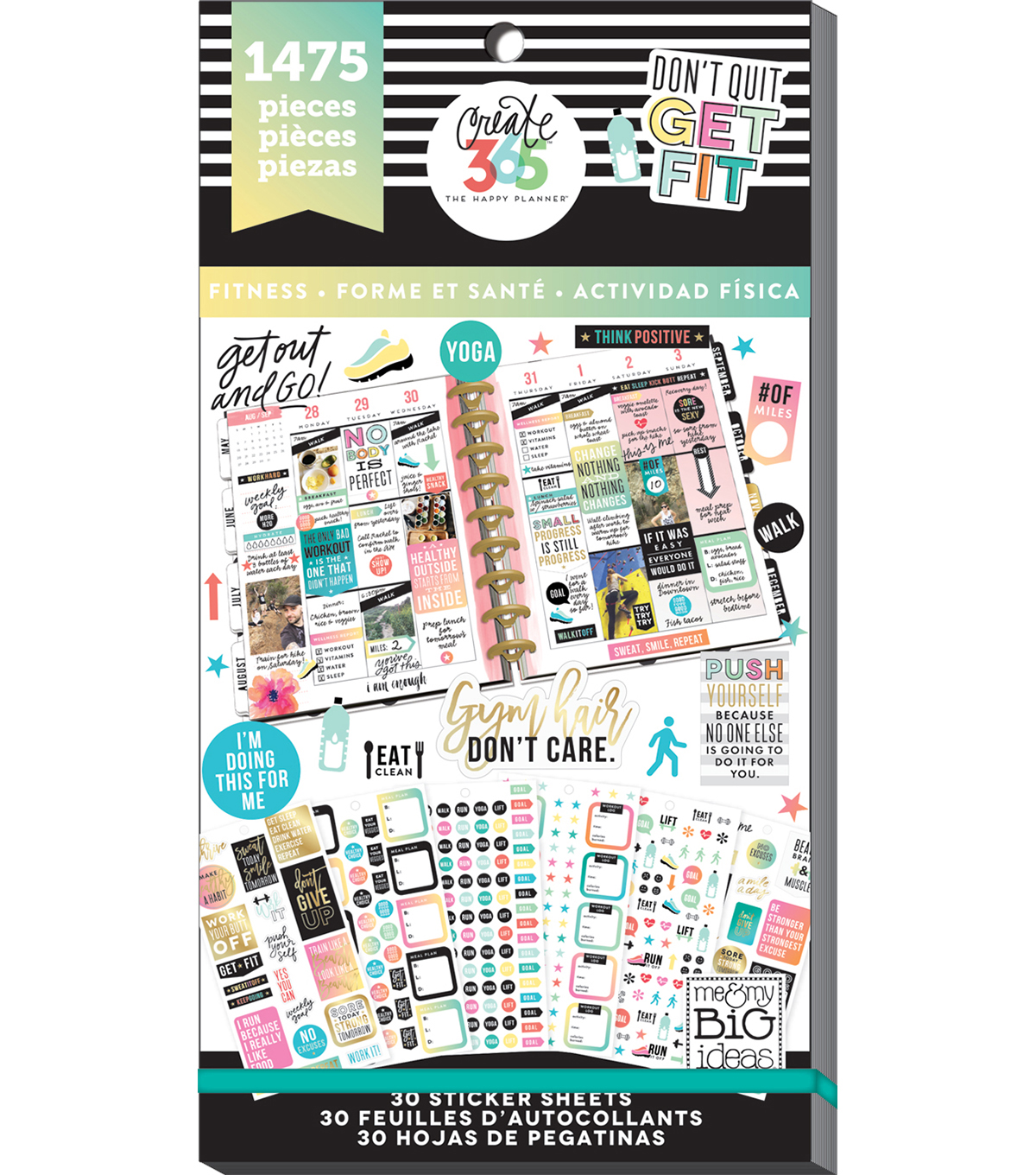 Create 365 The Happy Planner™ Sticker Sheets-Fitness
