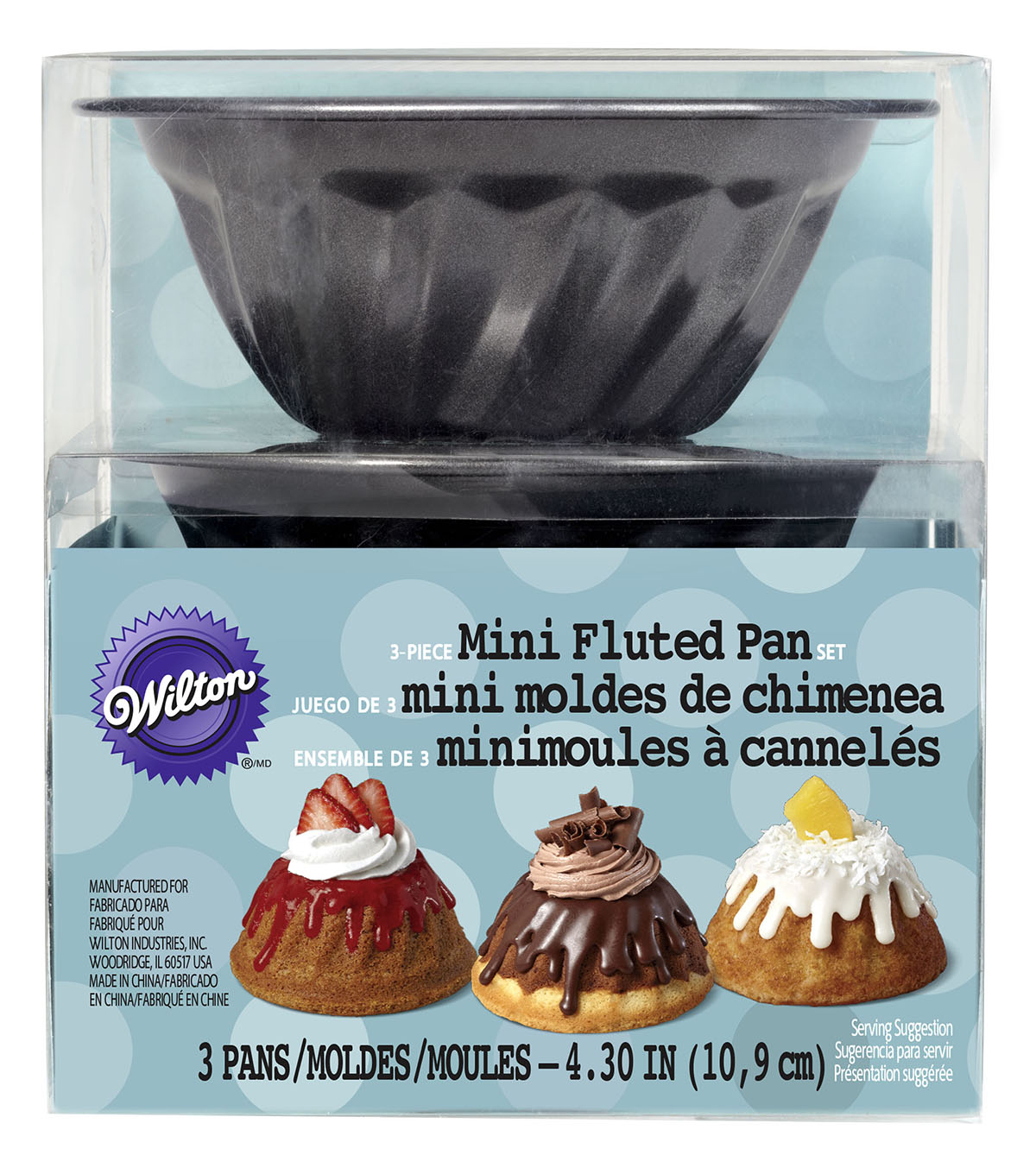 Wilton® Non-Stick Mini Fluted Pan Set 3-ct.