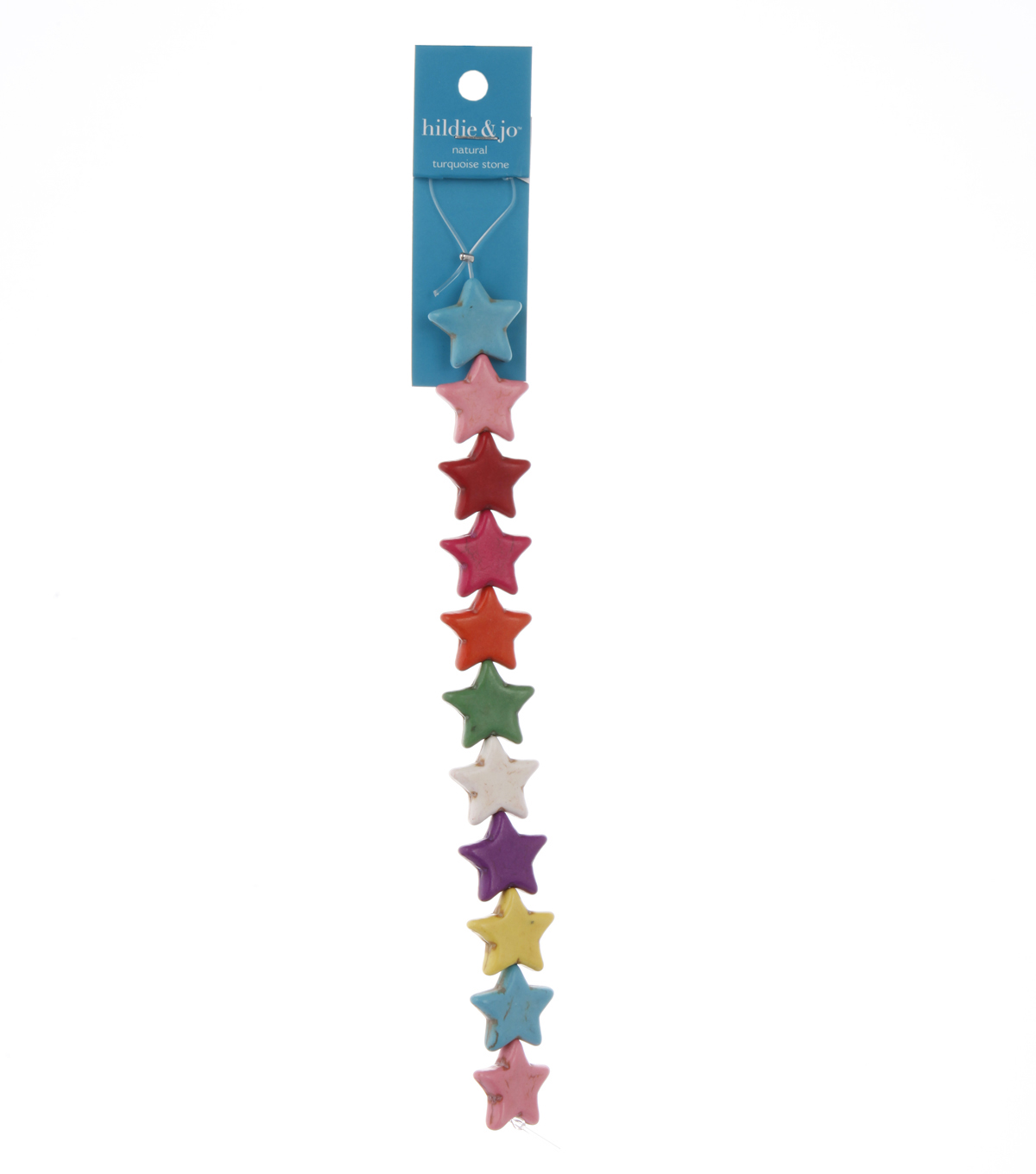 Star Beads, Multicolor, 7-inch Strand