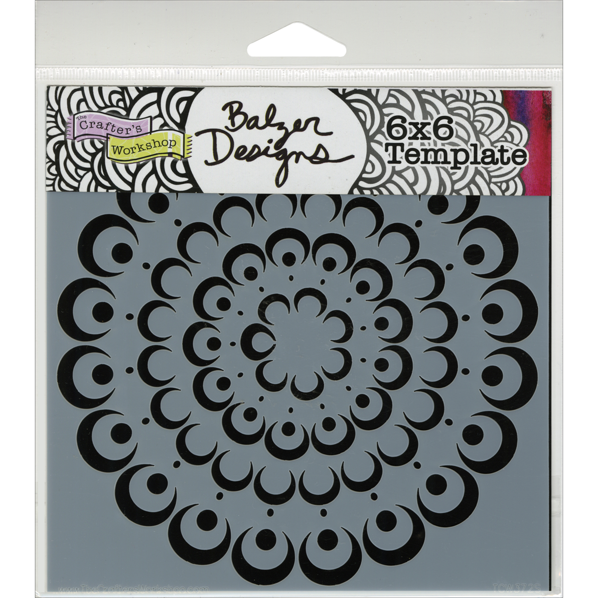 "Crafter's Workshop Templates Bubble Doily 6"" x 6"""