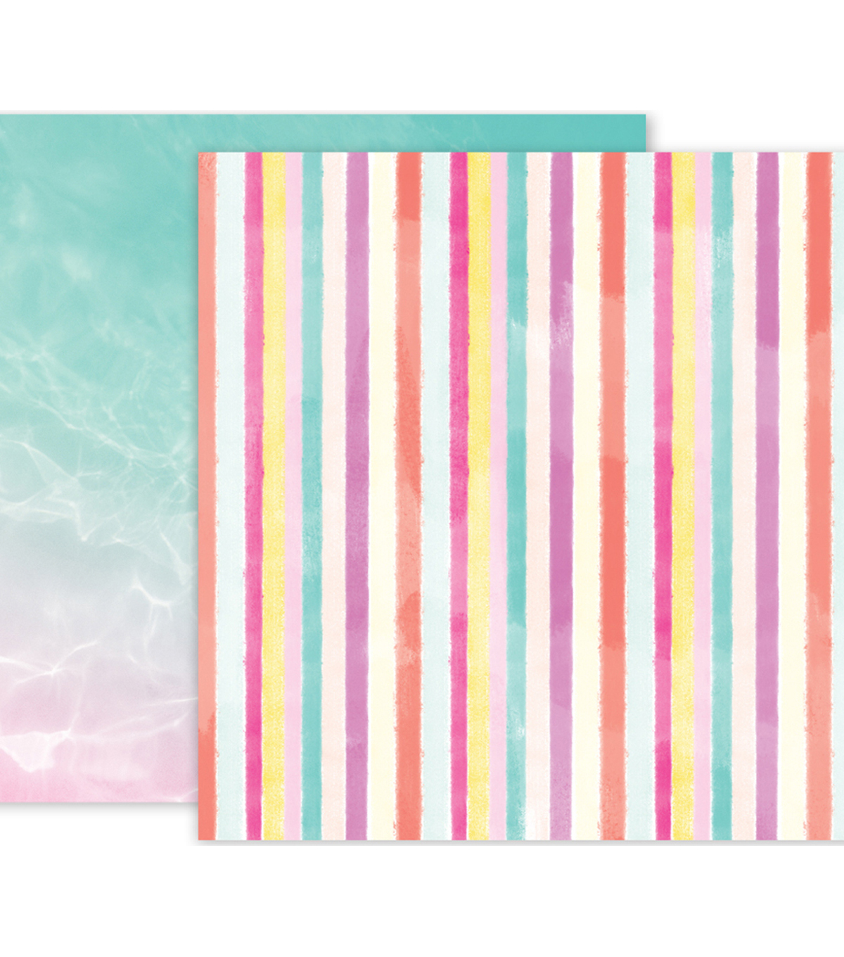 Pink Paislee Summer Lights Double-Sided Cardstock 12\u0022X12\u0022-#09
