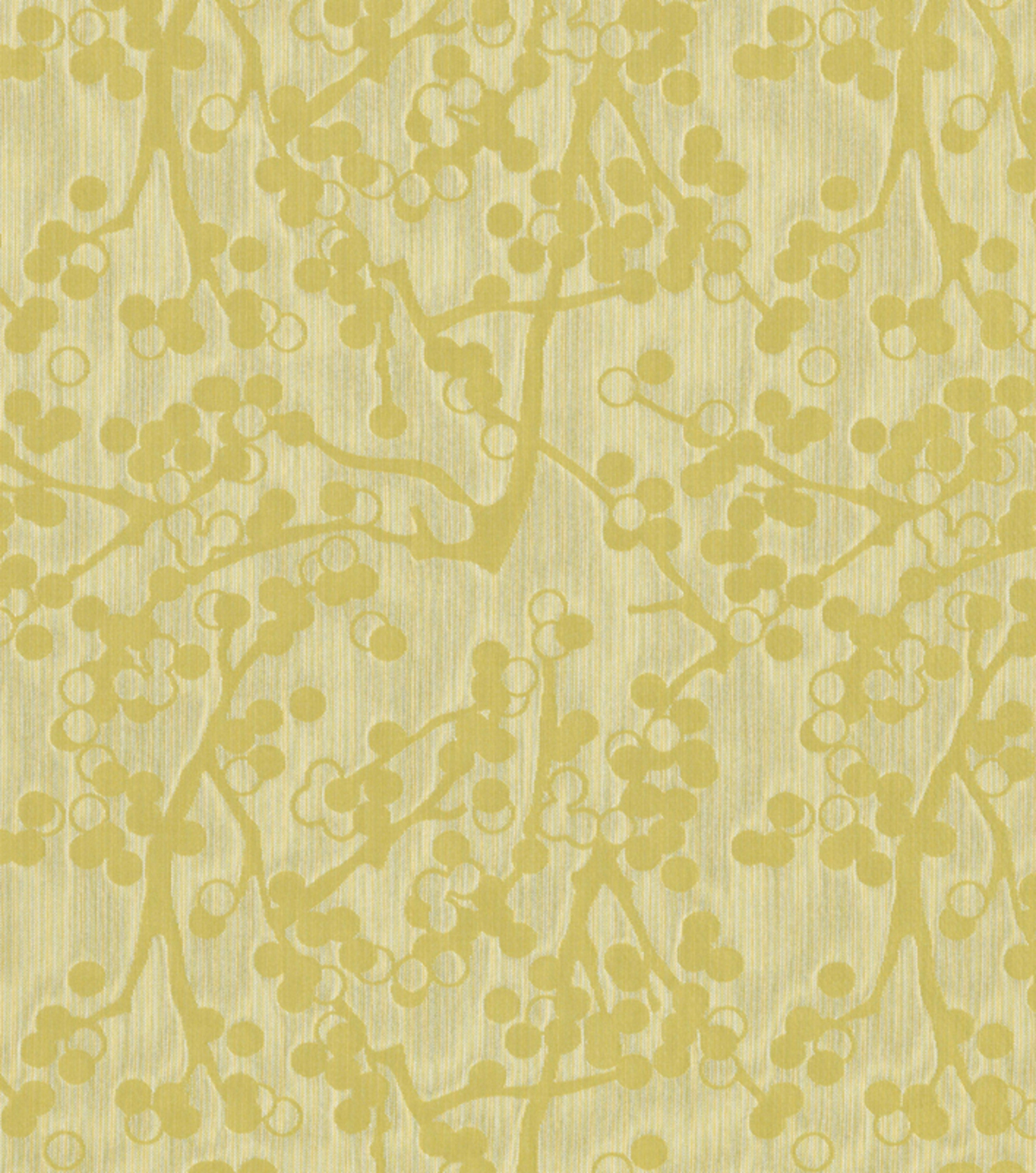 Home Decor 8\u0022x8\u0022 Fabric Swatch-Cherries Yellow/Green