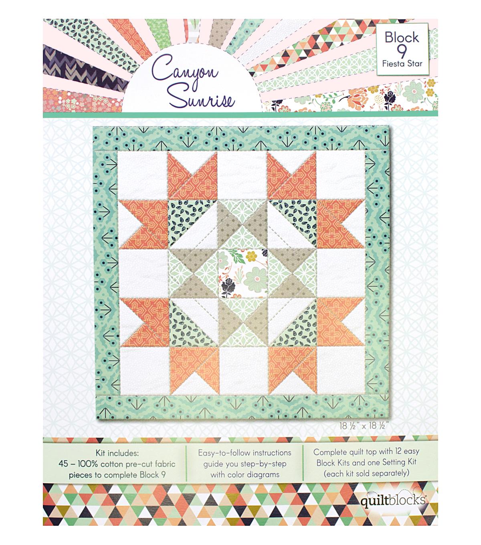 Quilt Block Canyon Sunrise 45-Pieces Block 9 Kit-Fiesta Star | JOANN : joann fabrics quilt kits - Adamdwight.com