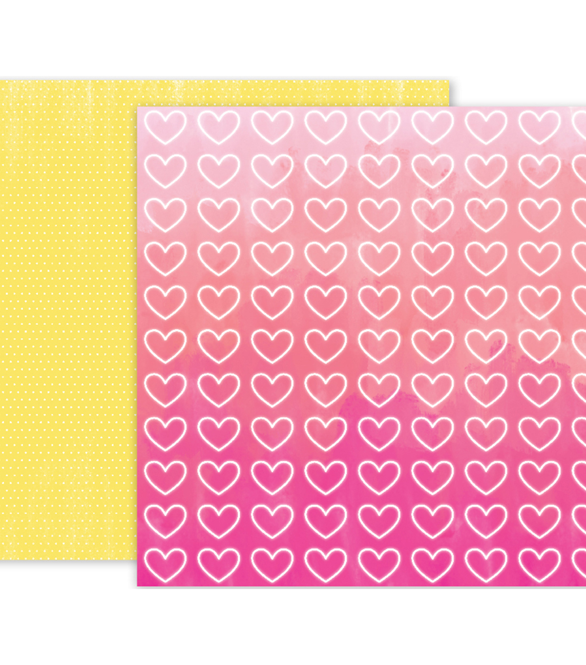 "Pink Paislee Summer Lights Double-Sided Cardstock 12""X12""-#11"