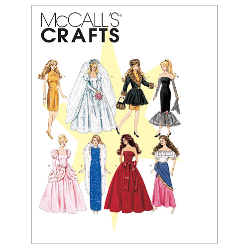 McCall's Crafts Doll Clothes-M6232