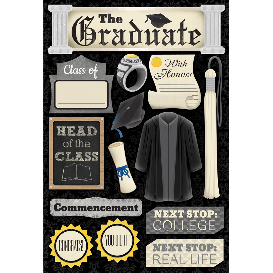 Karen Foster Cardstock Stickers The Graduate