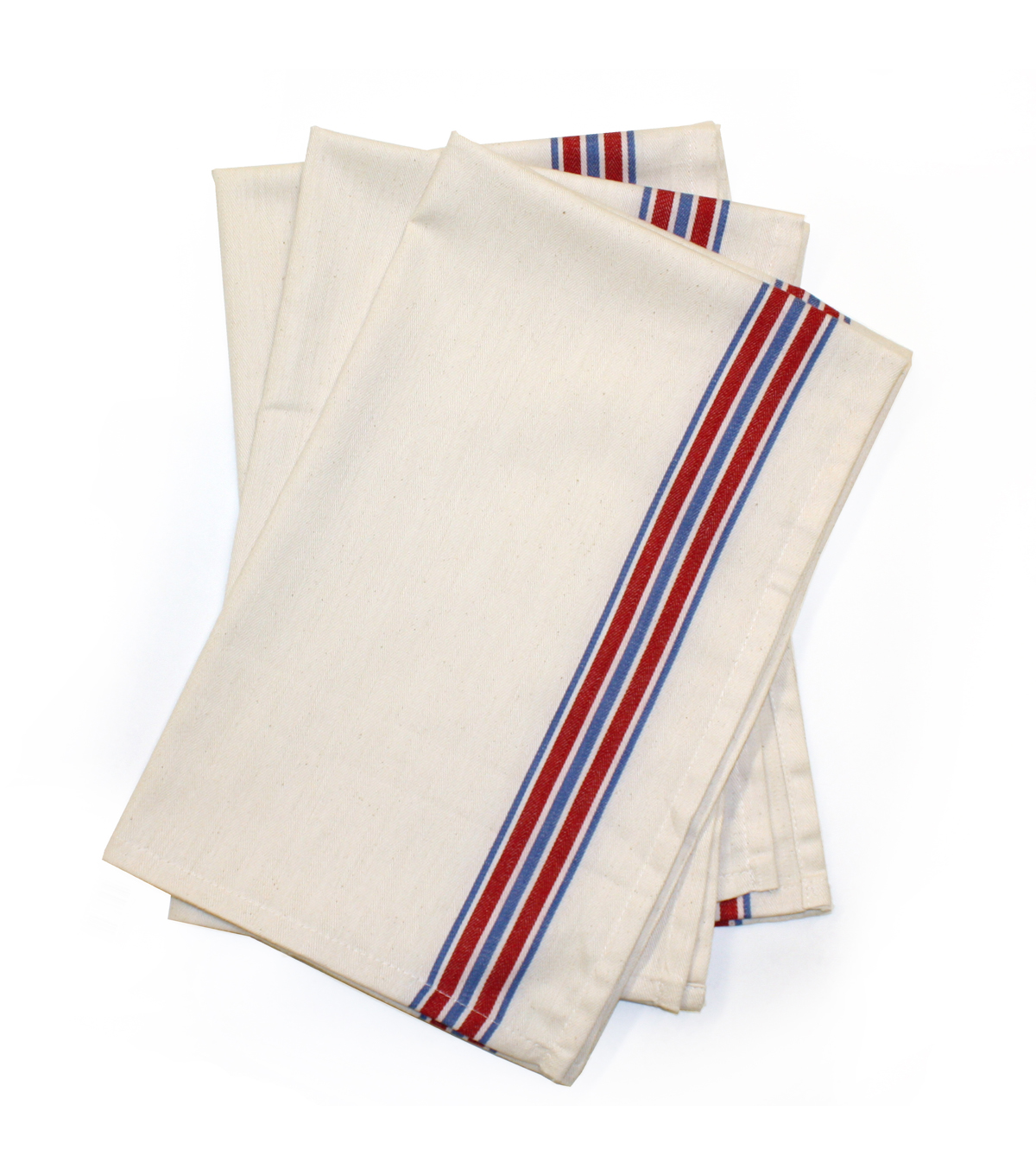 Stitch \u0027Em Up 3 Pack 18\u0027\u0027X28\u0027\u0027 Retro Towels-Americana Stripe
