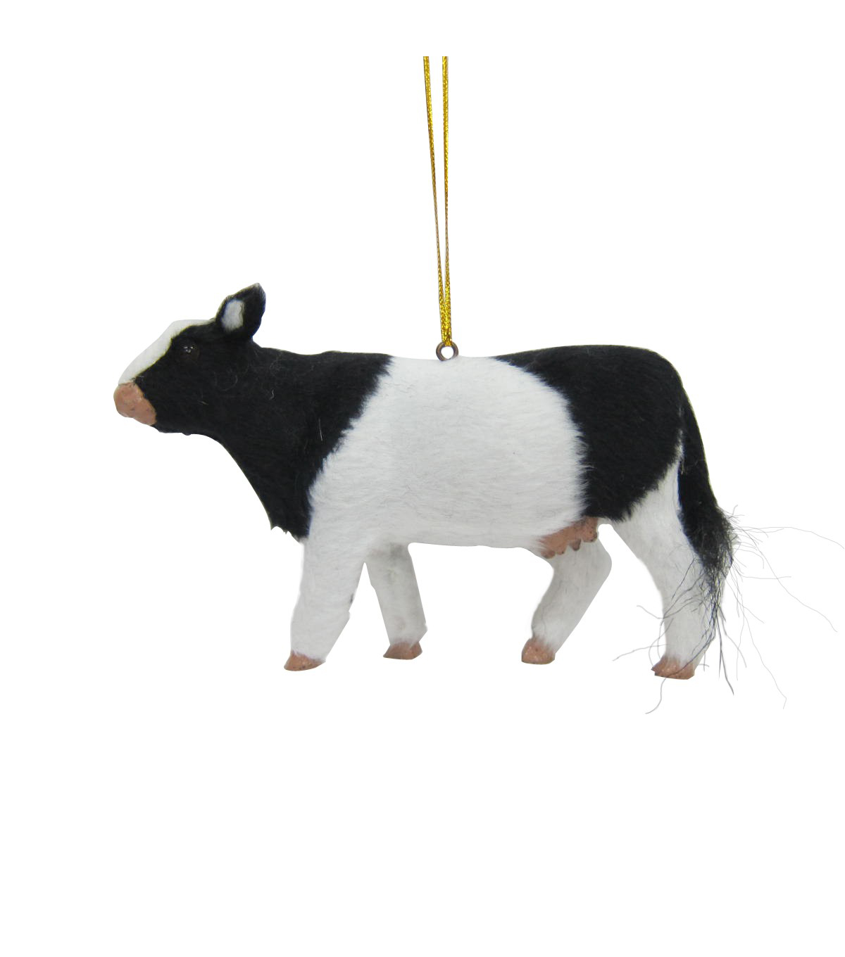 Maker\u0027s Holiday Christmas Fur Cow Ornament