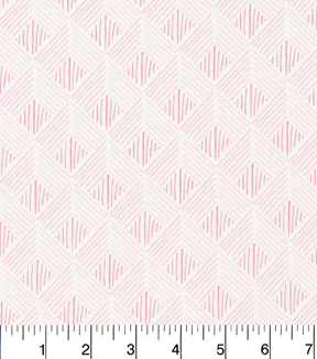 Cloud 9 Premium Cotton Fabric 44\u0022-Zig Zag Pink