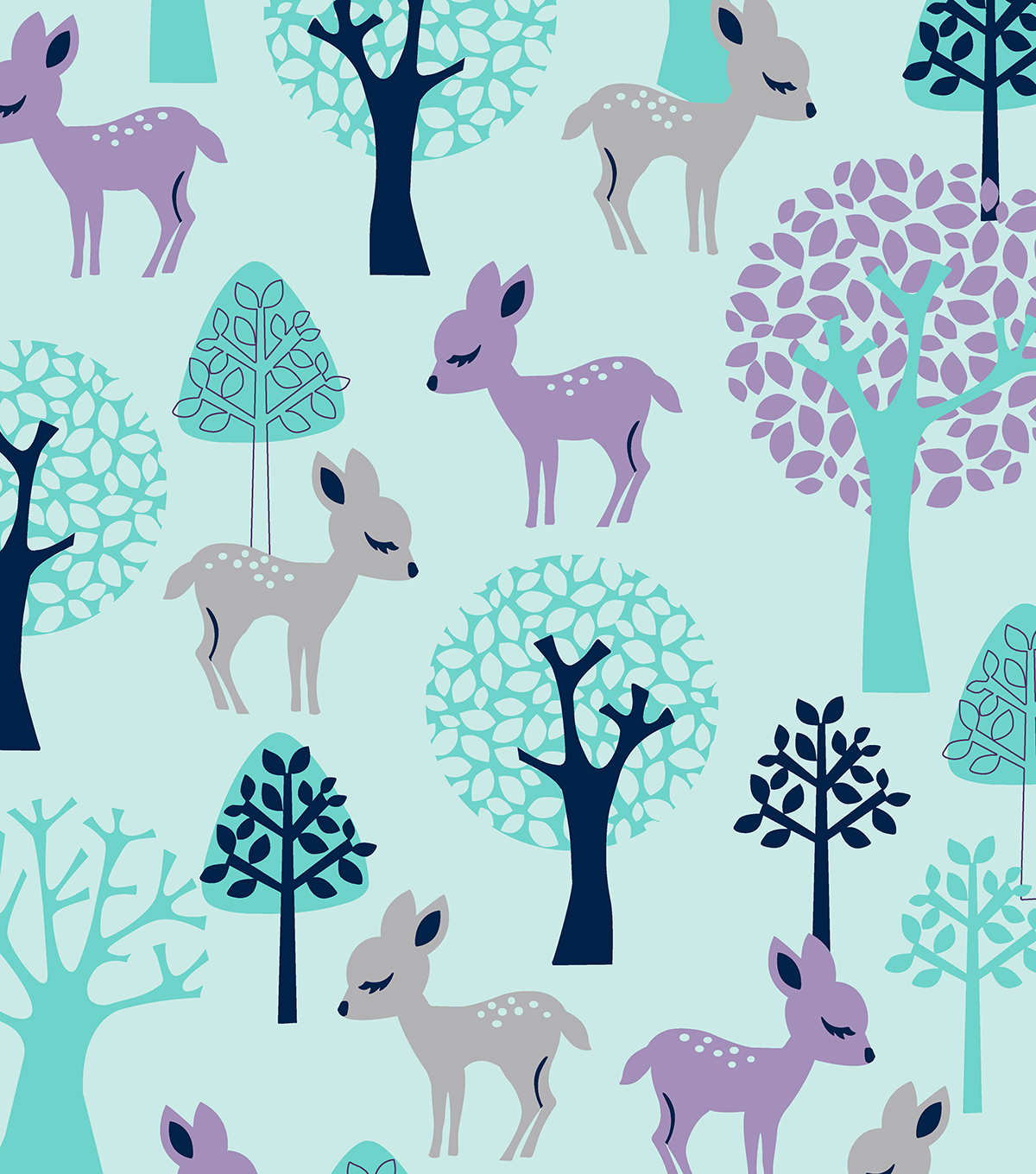 Anti-Pill Fleece Fabric 58\u0022-Sweet Baby Deer