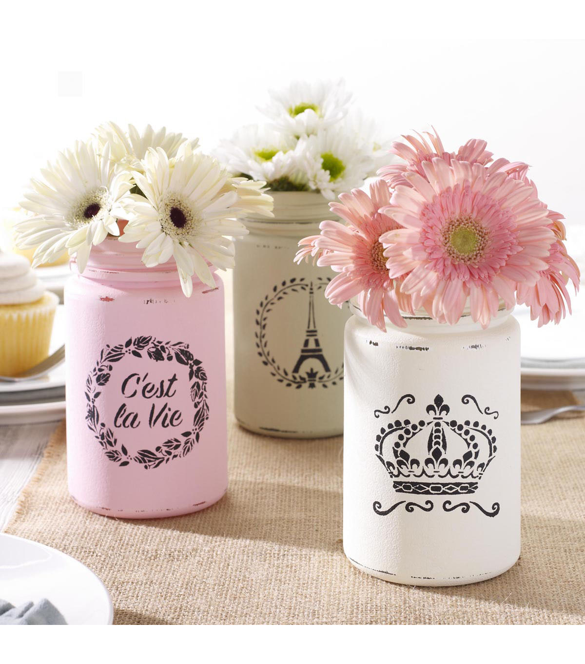 FolkArt® 3 pk 3\u0027\u0027x3\u0027\u0027 Mini Stencils-French Crown