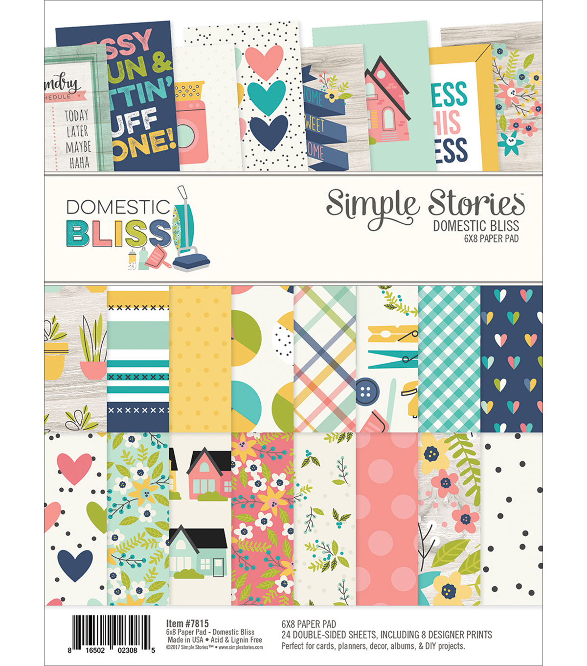 "Simple Stories Double-Sided Paper Pad 6""X8""-Domestic Bliss"