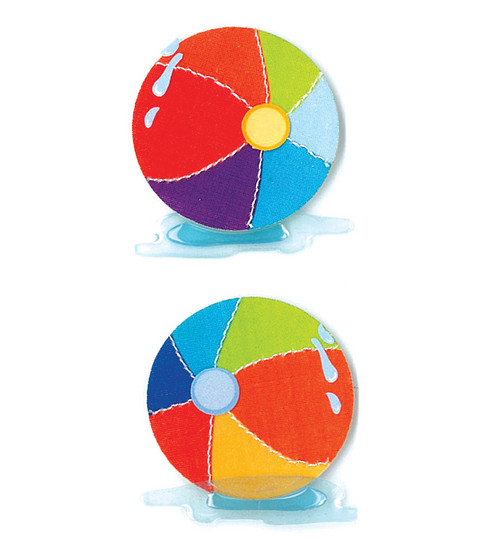 Jolee\u0027s By You Dimensional Slim Stickers-Beach Balls