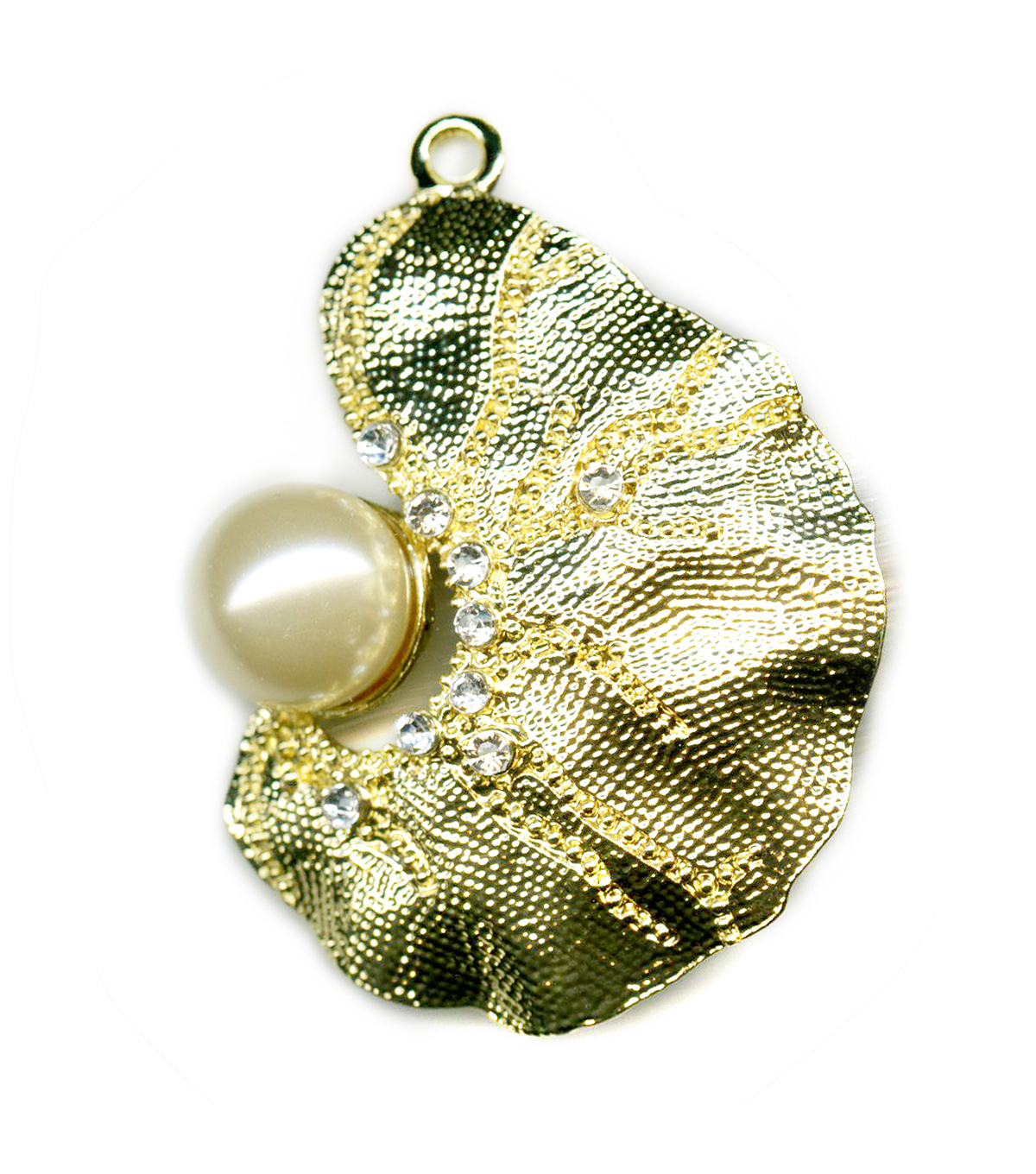 Blue Moon Beads Pendant Biomorph Gold W Pearl