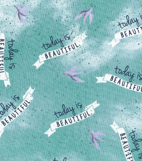Novelty Cotton Fabric 43\u0022-Today Is Beautiful