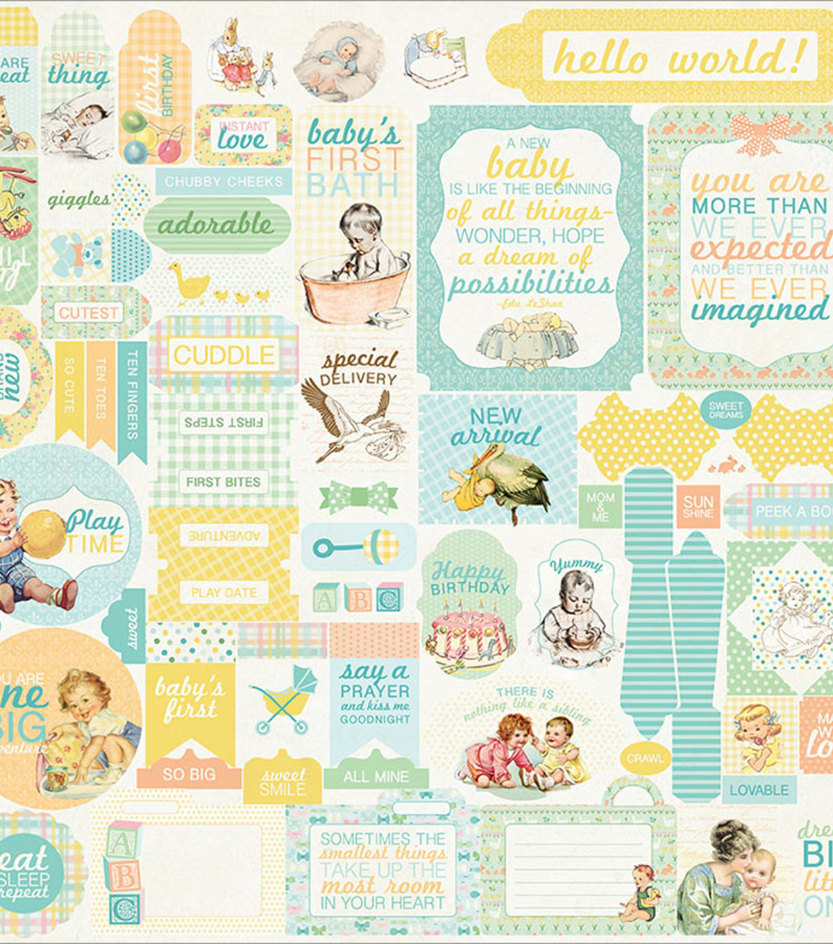 Beginnings Cardstock Stickers 12\u0022X12\u0022-Details
