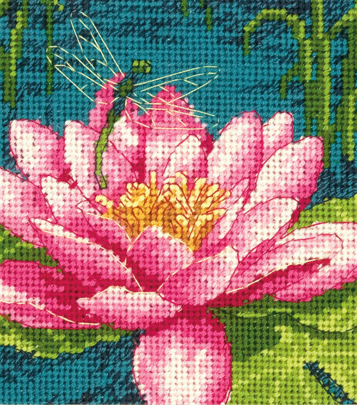 Dragon Lily Mini Needlepoint Kit 5\u0022X5\u0022 Stitched In Thread