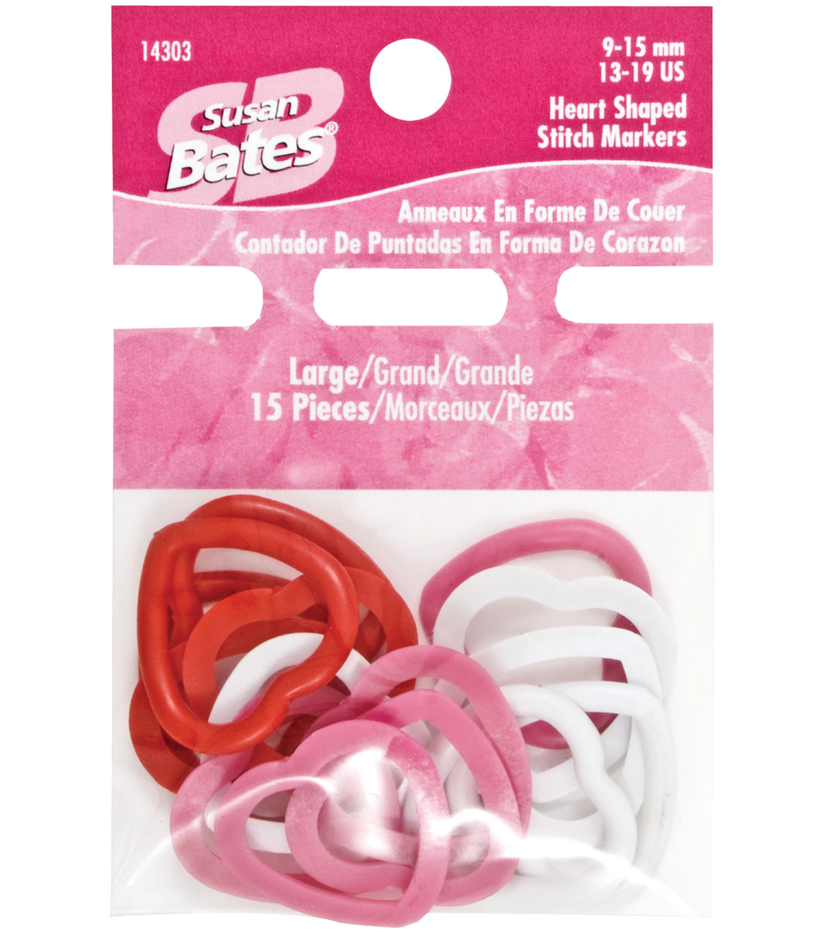 Susan Bates-Heart Shape Stitch Markers-Large 15/Pkg
