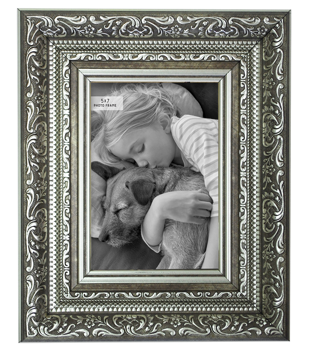Tabletop Frame 5X7-Vintage Silver Blackwash